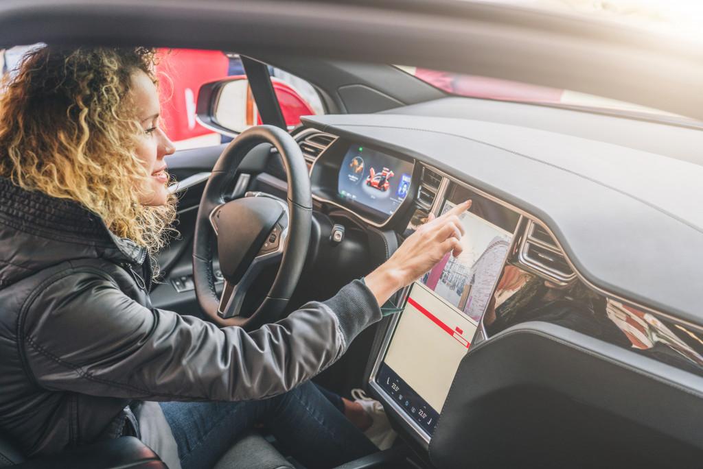 car with big dashboard