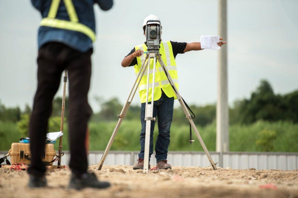 contractor using a camera