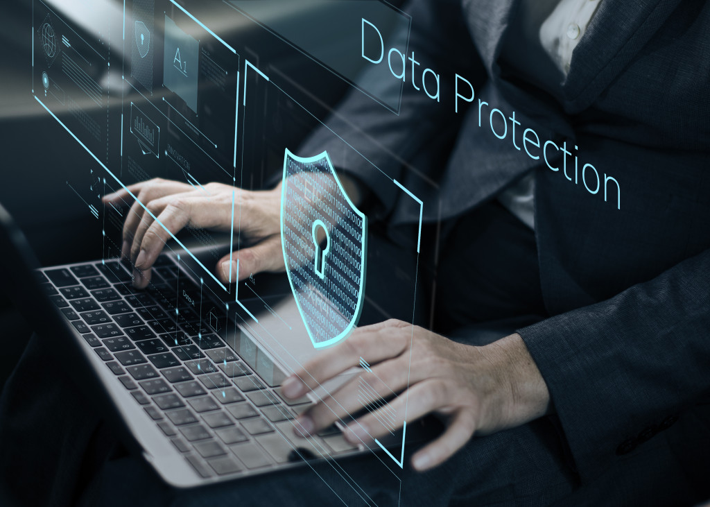 man working on data protection