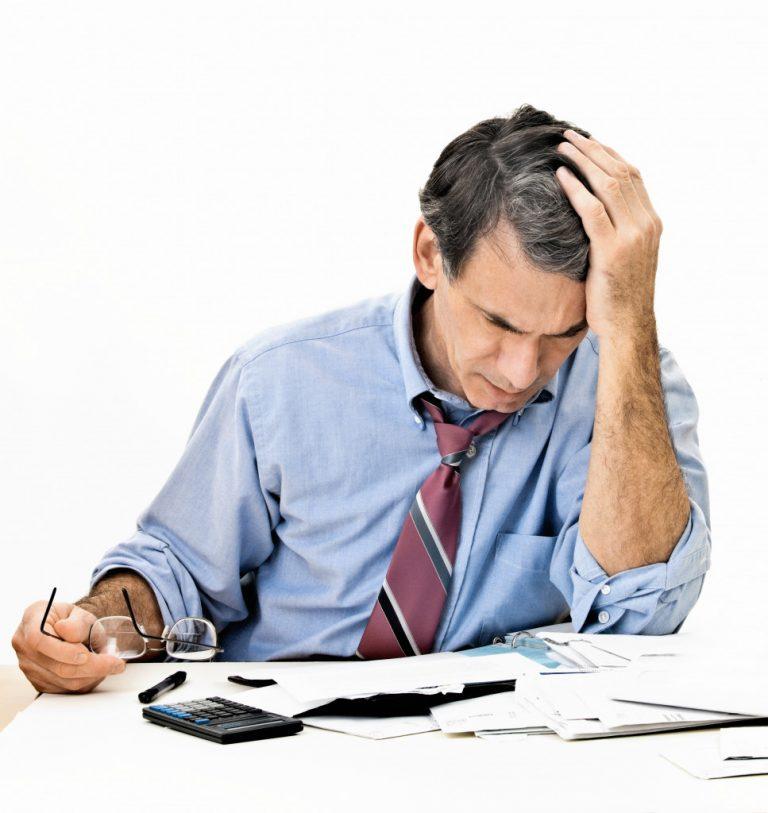 entrepreneur with failing business